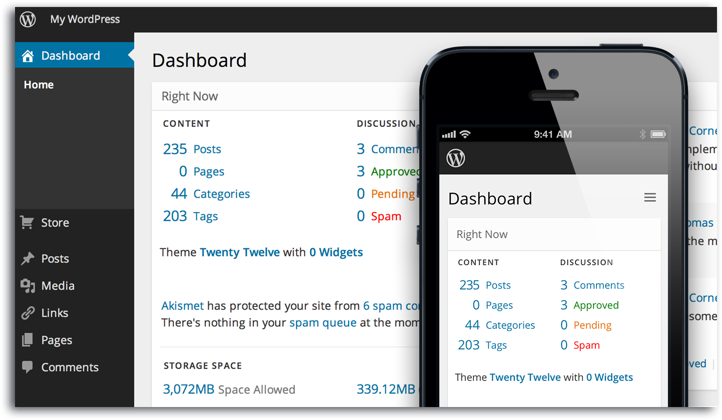 Wordpress Dashboard - BNG Design - Fargo, ND