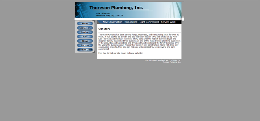 Thoreson Plumbing Before