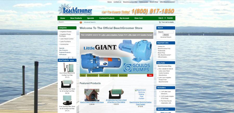 BeachGroomer - Web Design - BNG Design - West Fargo, ND