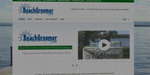 BeachGroomer website design and development - Beach cleaner and irrigation pump - BNG Design - Fargo, ND
