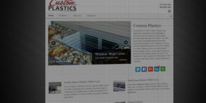 Custom Plastics website design and development - Plastic and aluminum window well covers - BNG Design - Fargo, ND