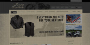 Ivory Leathers website design and development - Leather apparel and biker accessories - BNG Design - Fargo, ND