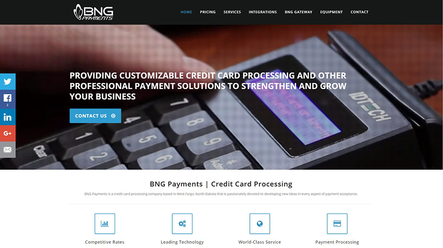 BNG Payments - Web Design - BNG Design - West Fargo, ND
