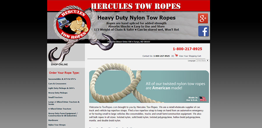 Hercules Tow Ropes Before - BNG Design