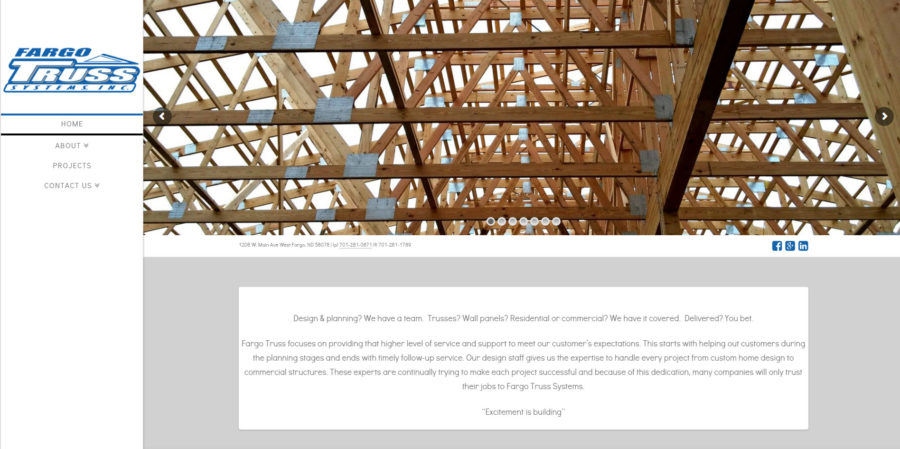 Fargo Truss home page - BNG Design - West Fargo, ND