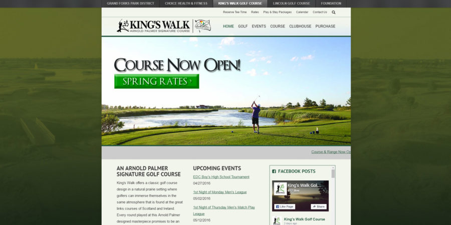 Kings Walk home page - BNG Design - West Fargo, ND