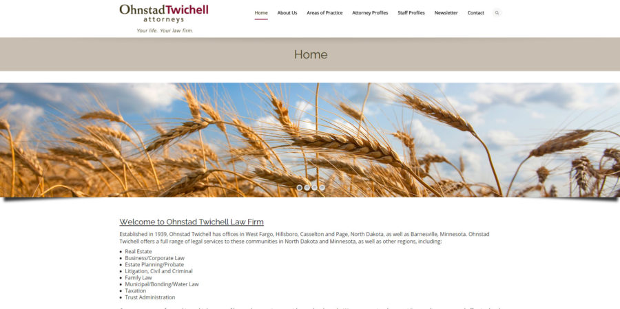 Ohnstad Twitchell home page - BNG Design - West Fargo, ND