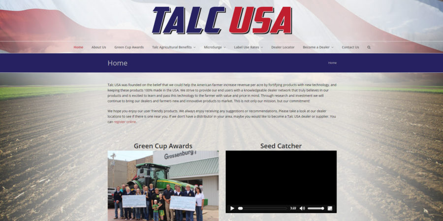 Talc USA home page - BNG Design - West Fargo, ND