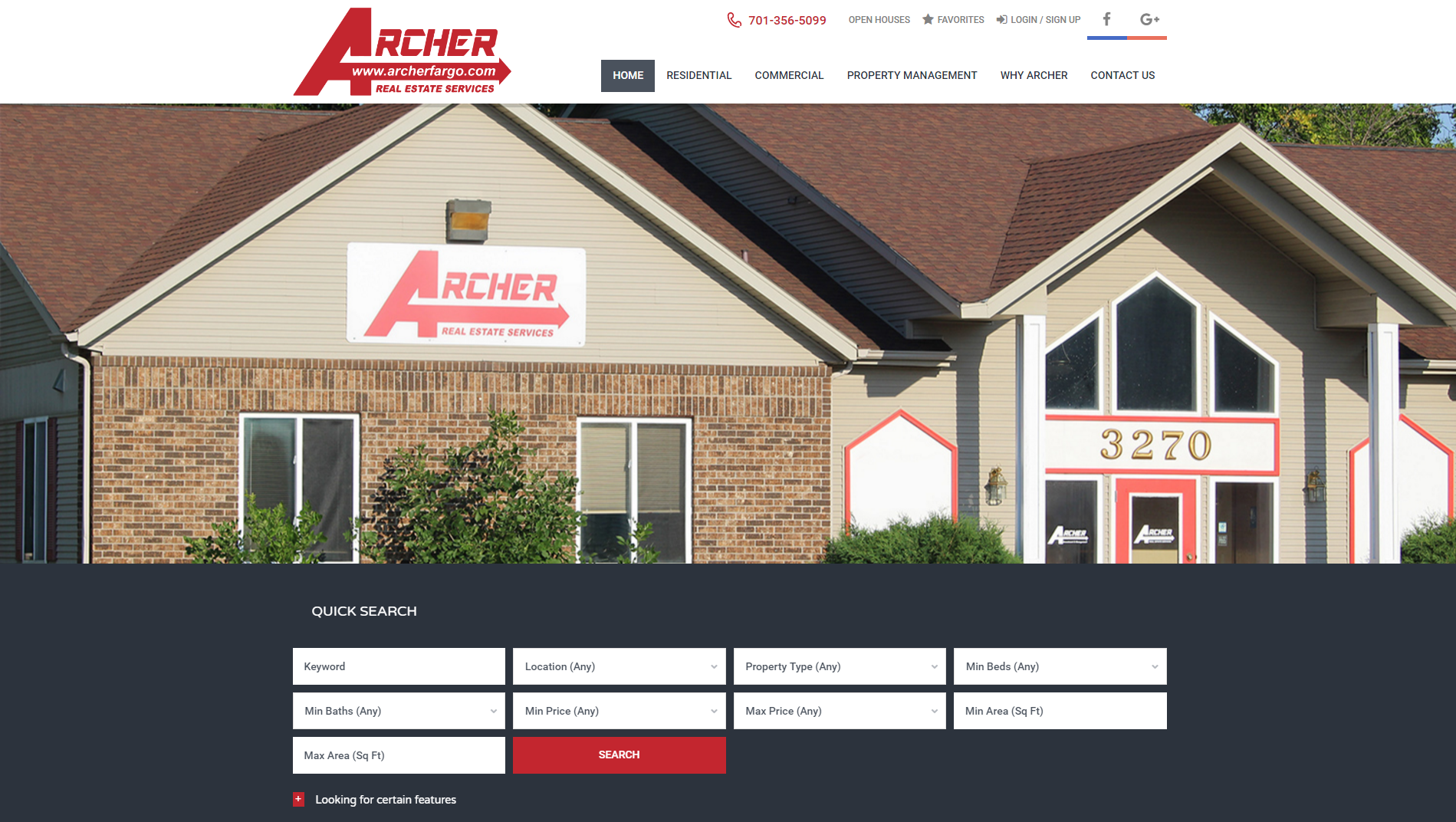 Archer Fargo - Web Design - BNG Design - Fargo ND