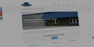 Dakota Bumper and Body Supply website design and development - Auto body shop distributor - BNG Design - Fargo, ND