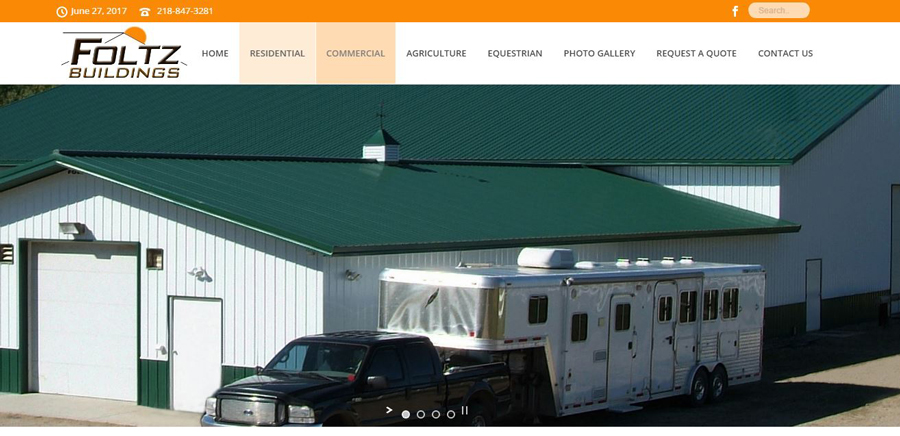 Foltz Buildings - Web Design - BNG Design - West Fargo, ND