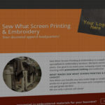 Sew What website design and development - Screen printing and embroidery - BNG Design - Fargo, ND