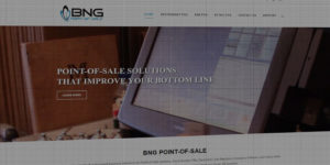 BNG Point-Of-Sale website design and development - Point-of-sale systems for restaurants and retail shops - BNG Design - Fargo, ND