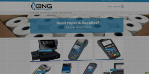 BNG Supplies website design and development - Point-Of-Sale paper, supplies, and credit card machines - BNG Design - Fargo, ND