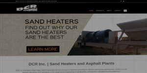 DCR Incorporated website design and development - Sand heaters and asphalt plants - BNG Design - Fargo, ND