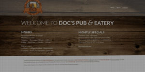 Doc's Pub & Eatery website design and development - Drinks and food in Hankinson, North Dakota - BNG Design - Fargo, ND