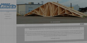 Fargo Truss website design and development - Truss and wall panel design for residential and commercial buildings - BNG Design - Fargo, ND