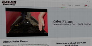 Kaler Farms website design and development - Corn stalk and supply - BNG Design - Fargo, ND
