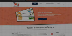 Next Generation Gaming website design and development - Tickets and raffle games - BNG Design - Fargo, ND