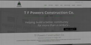TF Powers Construction Co website design and development - Custom buildings and general contractor - BNG Design - Fargo, ND