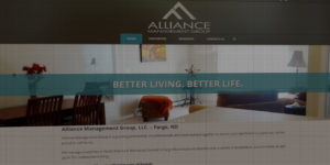 Alliance Management Group website design and development - Property management in North Dakota and Minnesota - BNG Design - Fargo, ND