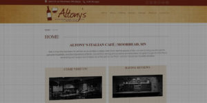 Altony's Italian Cafe website design and development - Wine bar and neighborhood Italian cafe - BNG Design - Fargo, ND