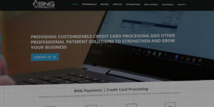 BNG Payments website design and development - Credit card payment processing - BNG Design - Fargo, ND