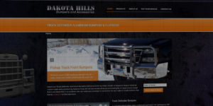 Dakota Hills website design and development - After-market truck bumpers and accessories - BNG Design - Fargo, ND