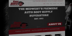 Fargo Bumper website design and development - BNG Design - Fargo, ND