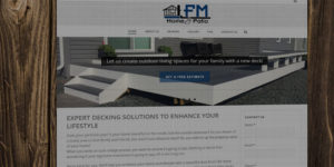 FM Home & Patio website design and development - Decking solutions and outdoor living construction - BNG Design - Fargo, ND