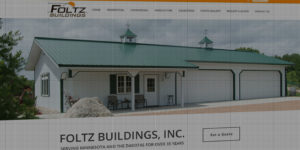 Foltz Buildings website design and development - Custom steel buildings for residential, commercial, agriculture, or equestrian - BNG Design - Fargo, ND