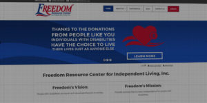 Freedom Resource Center website design and development - Independent living and caretaking resources - BNG Design - Fargo, ND