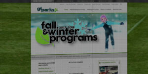 GF Parks website design and development - Parks programs and activities in Grand Forks, North Dakota - BNG Design - Fargo, ND