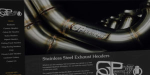 GP Headers website design and development - Stainless steel truck exhaust headers - BNG Design - Fargo, ND