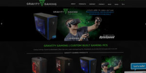 Gravity Gaming website design and development - Custom built gaming PCs and computers - BNG Design - Fargo, ND