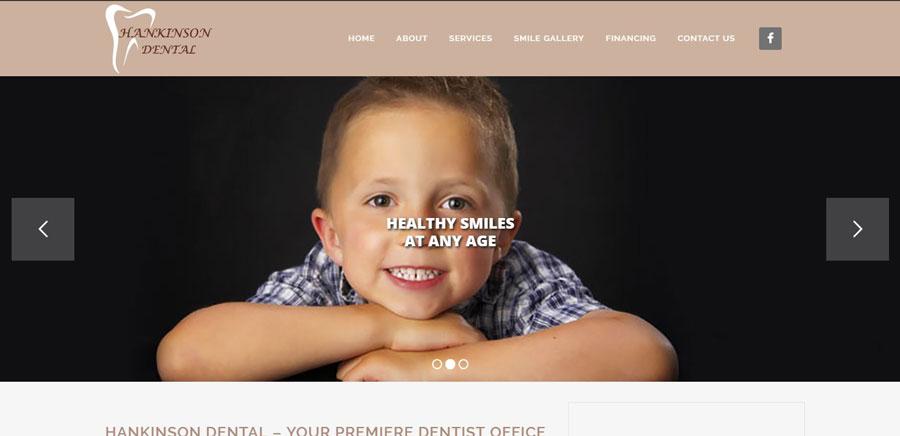 Hankinson Dental website design and development - BNG Design - Fargo, ND