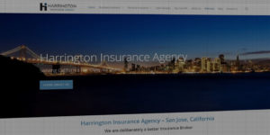 Harrington Insurance Agency website design and development - BNG Design - Fargo, ND