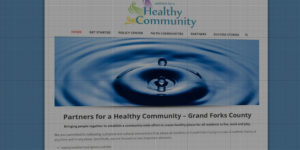 Healthy Community website design and development - Community to make Grand Forks healthy - BNG Design - Fargo, ND