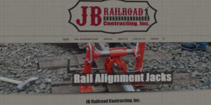 JB Railroad Contracting website design and development - Rail alignment jacks and railroad repair and construction services - BNG Design - Fargo, ND