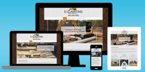 Lako Excavating web design portfolio screenshots - BNG Design - West Fargo, ND