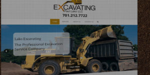 Lako Excavating website design and development - Professional excavation and digging company - BNG Design - Fargo, ND