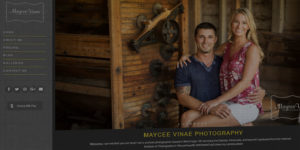 Maycee Vinae Photography website design and development - Photo gallery and purchasing platform - BNG Design - Fargo, ND
