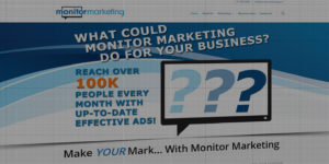 Monitor Marketing website design and development - Digital advertising boards - BNG Design - Fargo, ND