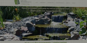 Natural Environments Landscaping website design and development - Outdoor living and landscaping services - BNG Design - Fargo, ND