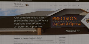 Precision EyeCare and Optical website design and development - Optometrist care in the Dillon, MT - BNG Design - Fargo, ND