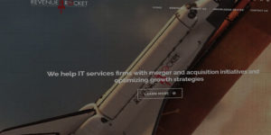 Revenue Rocket website design and development - Merger and acquisition services for IT firms - BNG Design - Fargo, ND