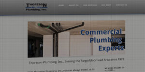 Thoreson Plumbing website design and development - BNG Design - Fargo, ND
