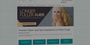 West 13th Hair Salon and Spa website design and development - BNG Design - Fargo, ND