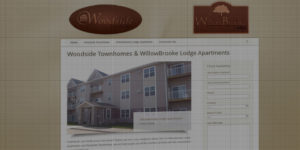 Woodside Townhomes and WillowBrooke Lodge Apartments website design and development - Rental homes, townhomes and apartments - BNG Design - Fargo, ND