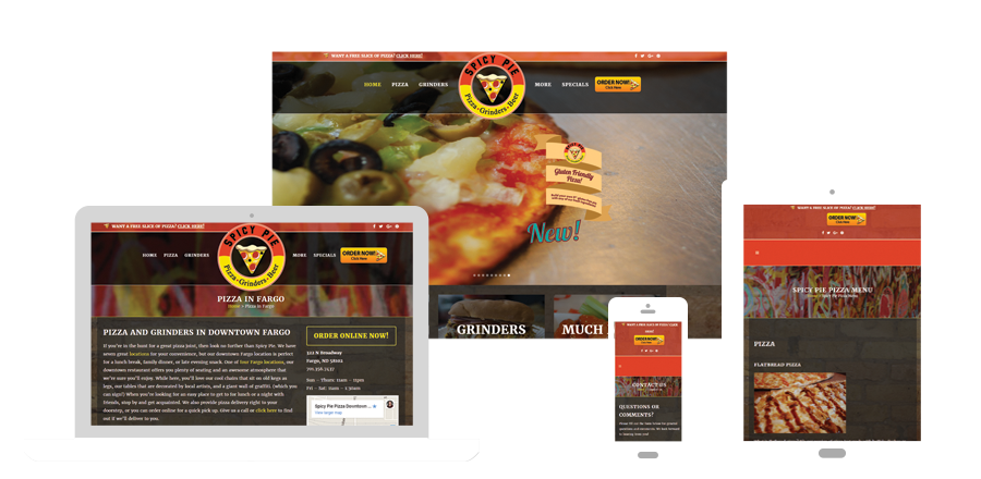 Spicy Pie Pizza - Web design and development - BNG Design - Fargo, ND